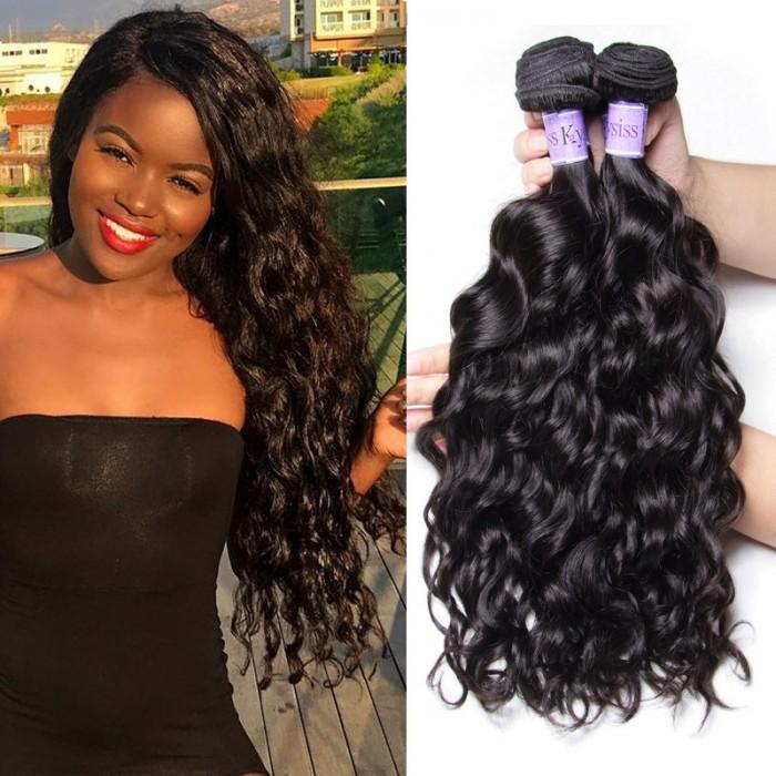 UNice Cheveux Kysiss Séries Vierge+ catégorie 4pcs Products Brésilienne Vagues Naturelles Vierges Extension Des Cheveux