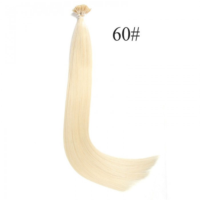 UNice 0.5 g/s 100S Kératine Stick I-tip UNice Droit Remy Humain Cheveux Extensions