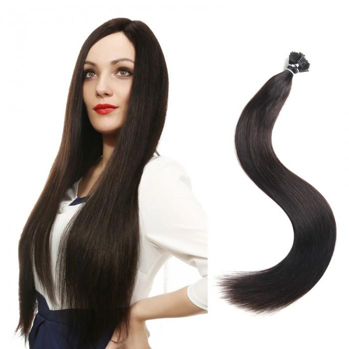 UNice 50 g/Pack 100 Pièces Hair Qualité I Tip Cheveux Extensions 0.5g/s