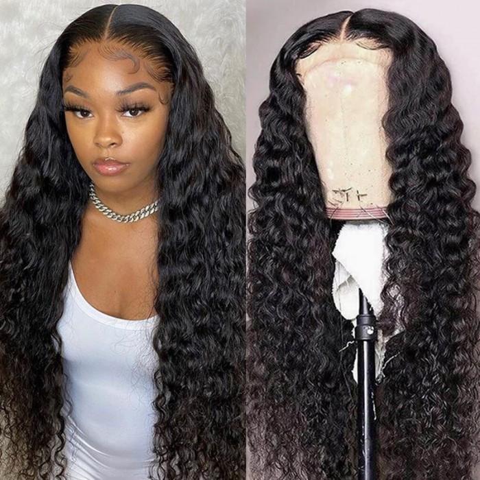 UNice cheveux Nouvelles Fabuleux Charme Vague D'eau Perruques Lace Frontal Perruques 100% cheveux humains