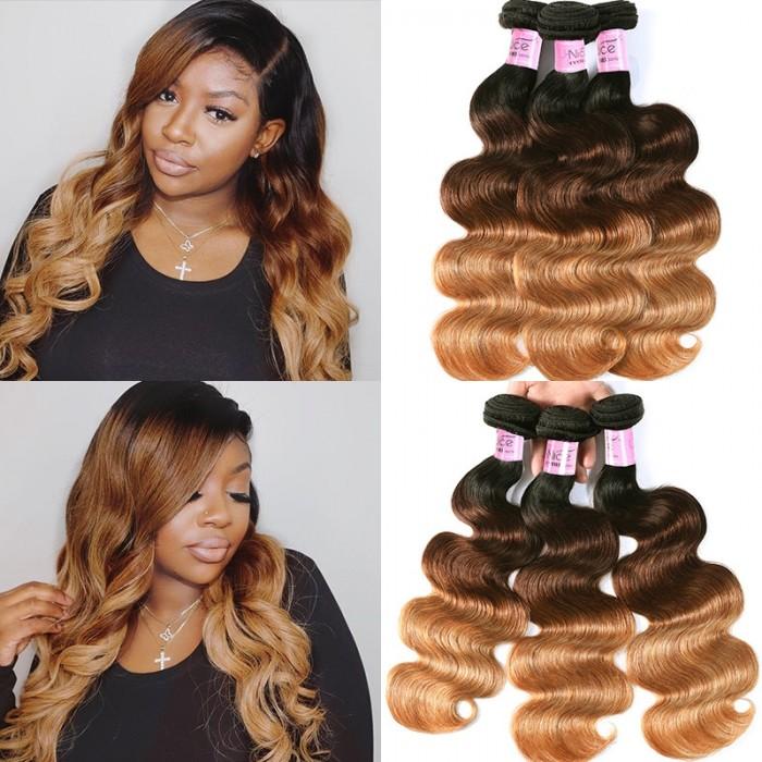 UNice cheveux Icenu séries Cheveux Produits Ombrés Body Wave Cheveux Vierge 3 Paquets
