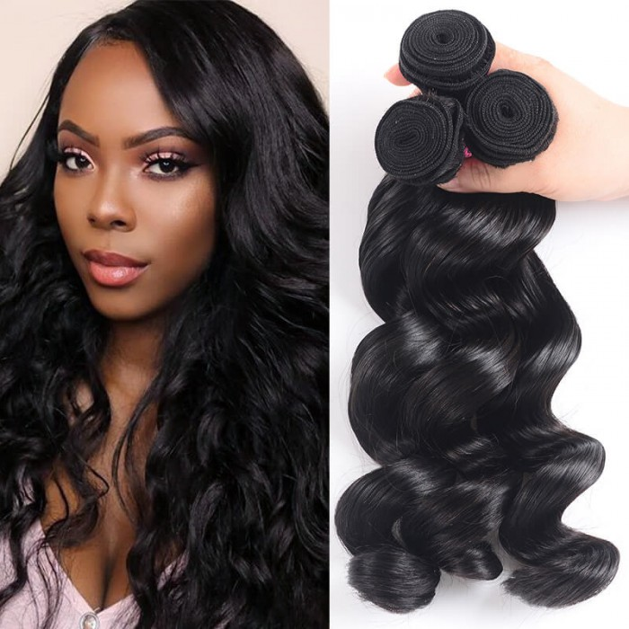 UNice Hair Icenu Series Malaysian Loose Wave Human Virgin Hair 3 Bundles