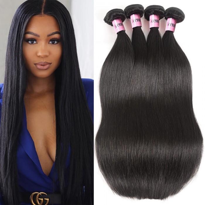 UNice Cheveux Icenu Séries 4 faisceaux Péruvienne Vierge Extensions des  Cheveux Humains