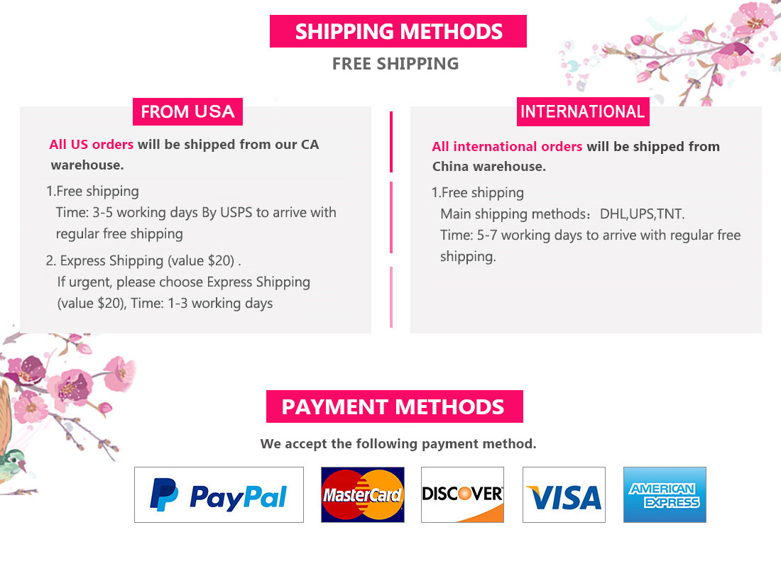 UNice Mall Shipping & Payment