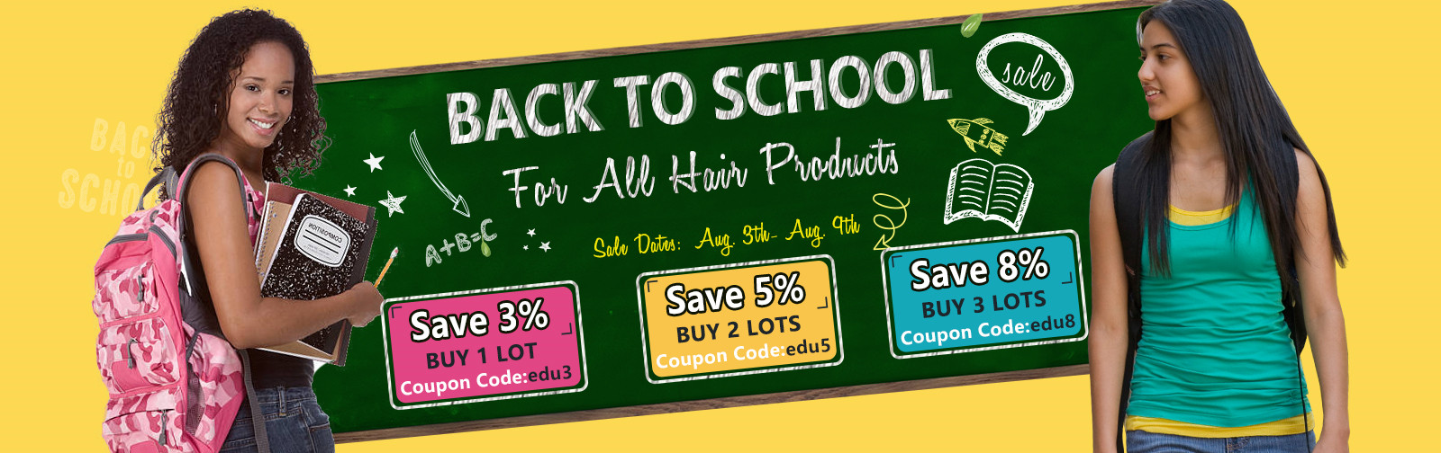 back t to school promotion