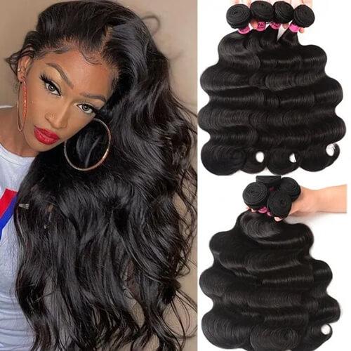 UNice Hair Hair Products Brazilian Body Wave Virgin Hair 4 Bundles
