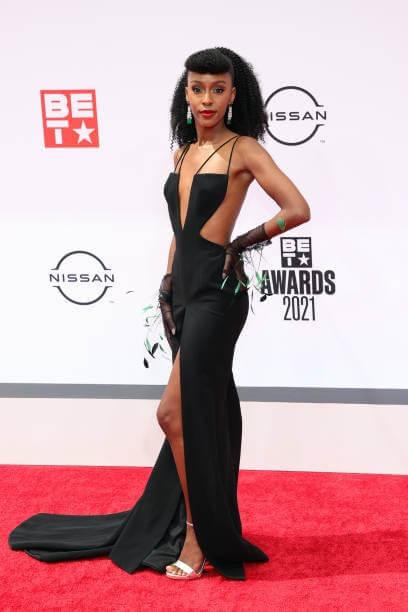 Ebony Obsidian On The BET Award Red Carpet