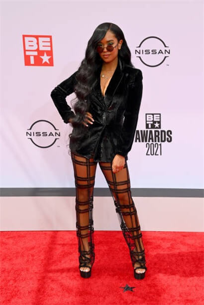 H.E.R On The BET Award Red Carpet