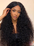 UNice Jerry Curly Wigs Lace Part Wig Middle Part 150% Density Natural Hair Line Glueless Human Hair Wigs Bettyou Series