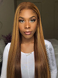 UNice 13x4 Straight Honey Blond Ombre Color Highlight 150% Lace Front Human Hair Wigs for Women Invisible Pre Plucked Bettyou Series