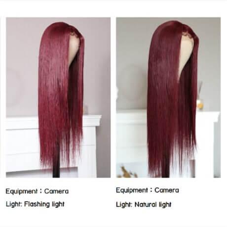 99j-burgundy-wig-photoed-by-camera