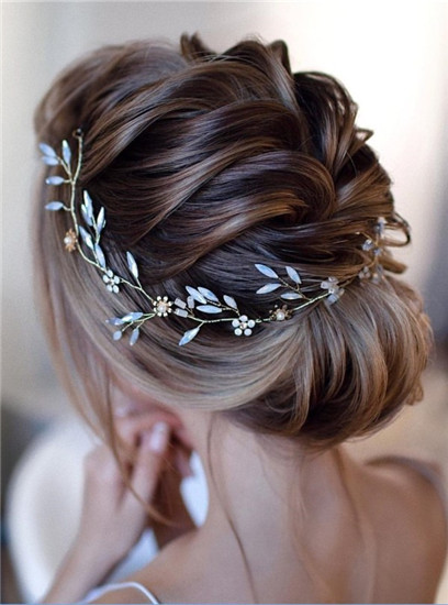 Gorgeous updo-wedding hairstyles for medium length hair
