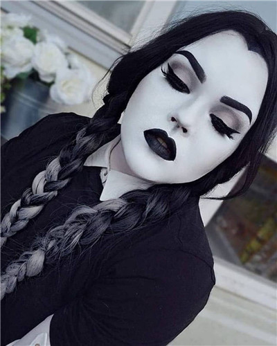 Wednesday Addams Halloween Hairstyle