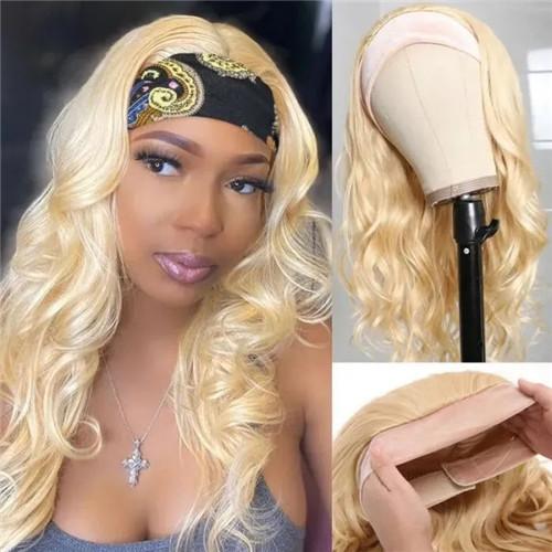 headband wig 613 blonde wig