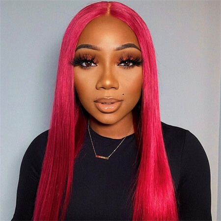 burgundy-straight-wig