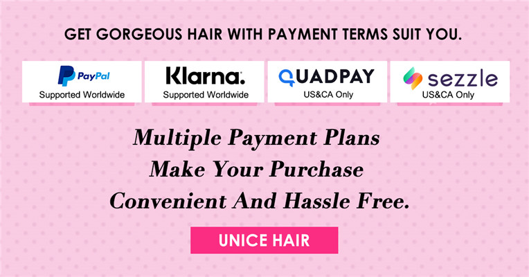 Buy Now Pay Later Hair Bundles and Wigs with Afterpay Quadpay Klarna or Sezzle
