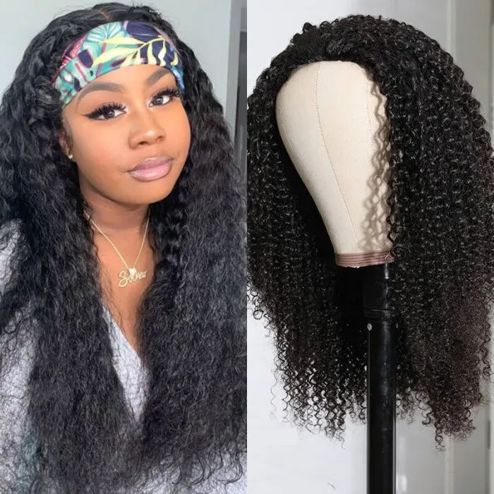 Afro Kinky Curly Half Wigs for Black Women 150 Density Kinky Curly Half Wig