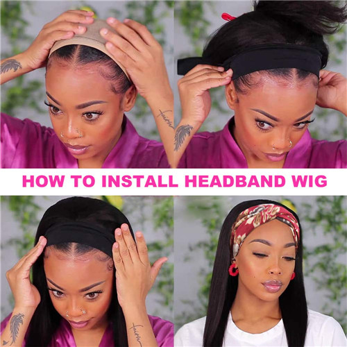 How to Wear Headband Wig?