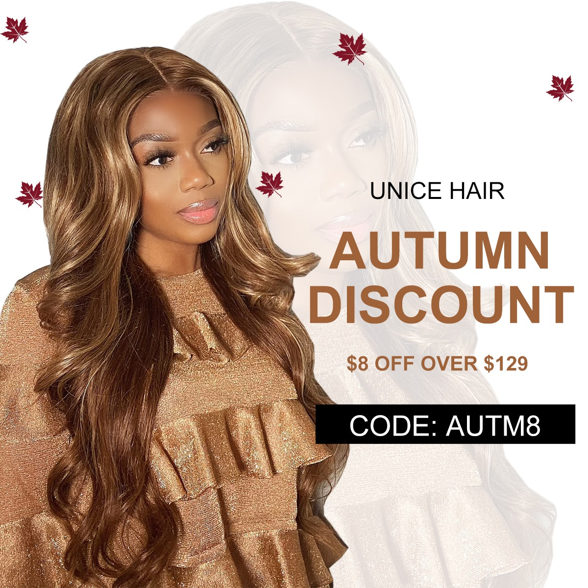 Unice Autumn Special Sale:Best Trendy Fall Hair Color Wig 2021 for You