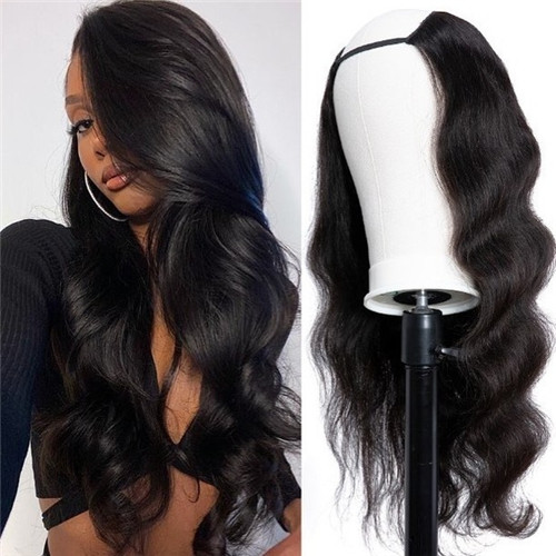 Body wave human hair lace front wig