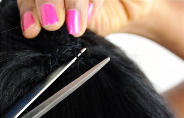 Remove your hair weaves with patience and carefulness
