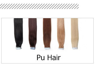Pu Hair Hair Extensions