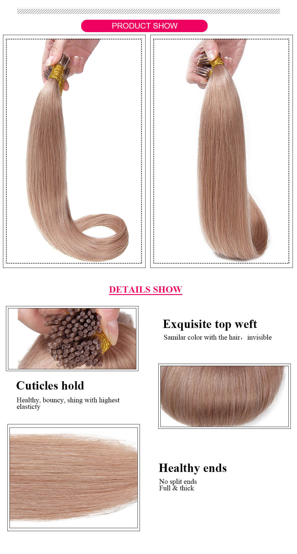 straight hair product details