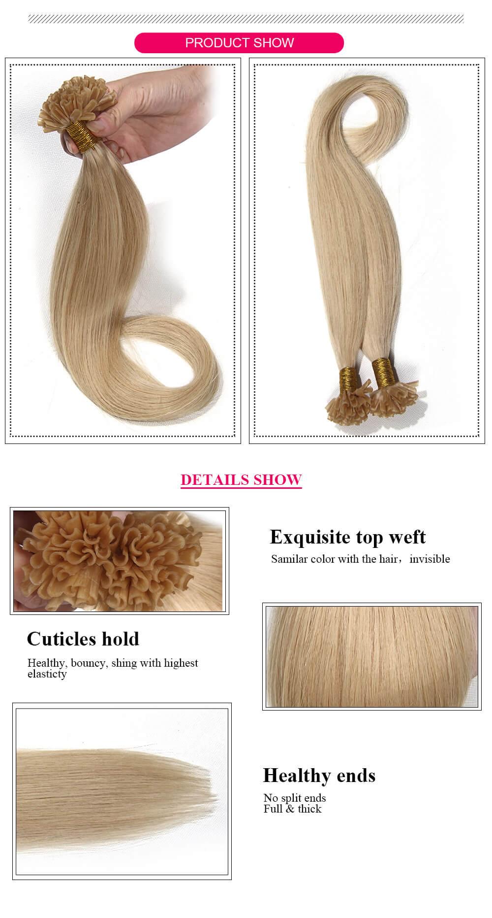 U Tip hair 613# product details