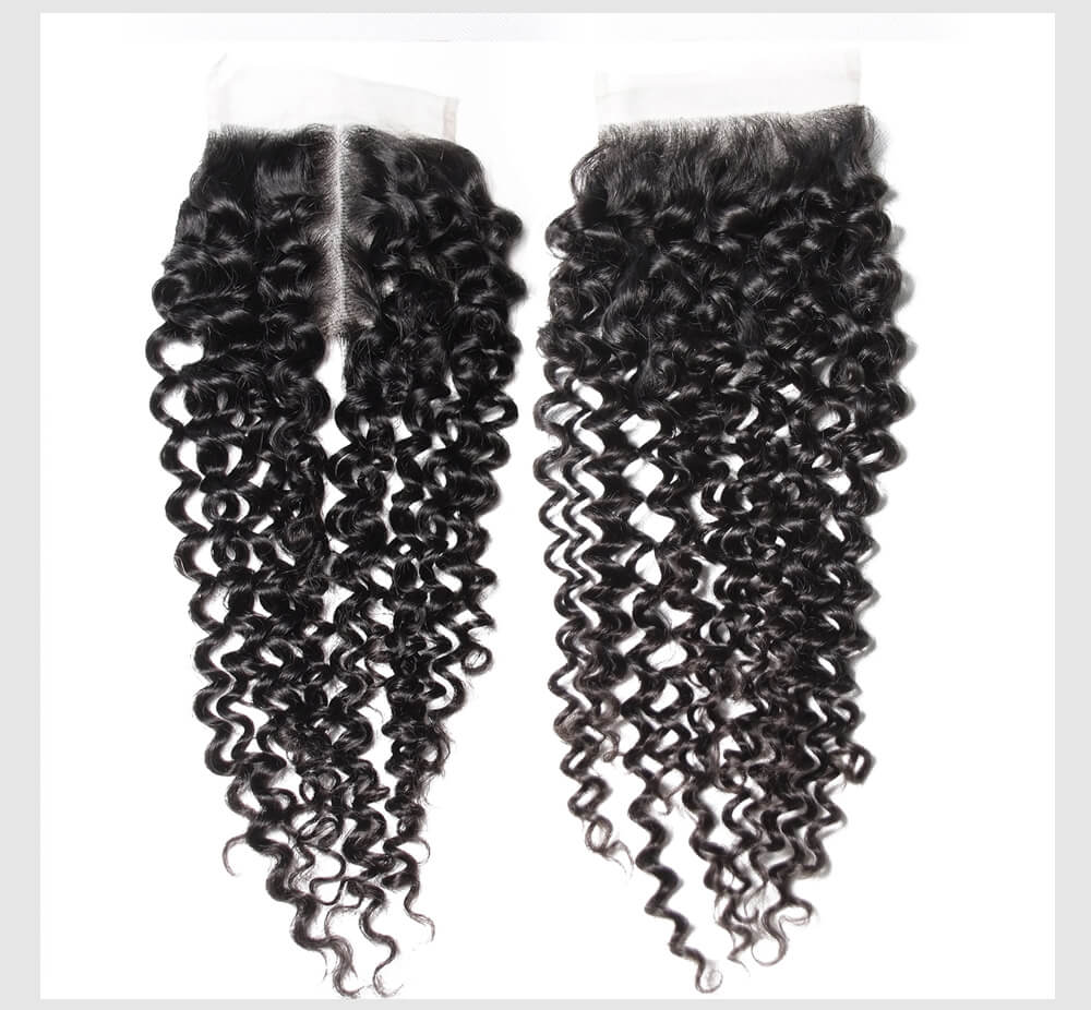 UNice 10A Virgin hair Jerry Curly Hair Extension With Lace Closure