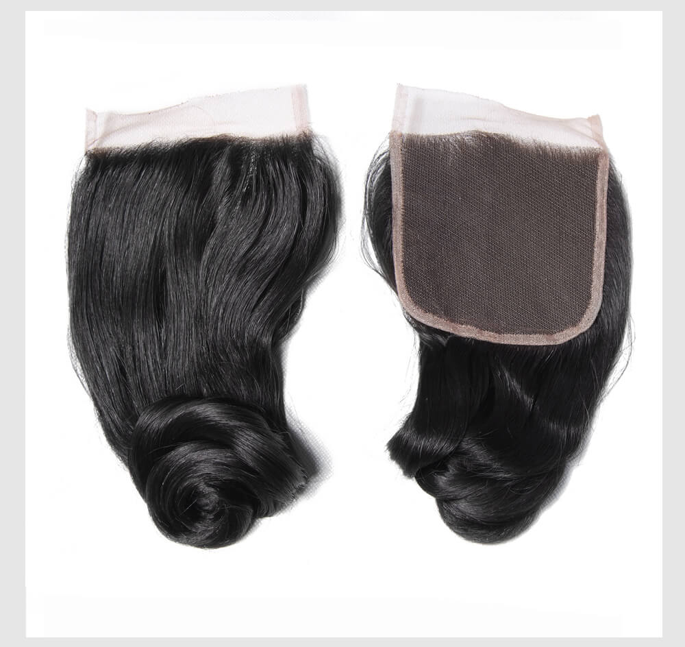 Banicoo Series 4 Bundles 10A Grade Loose Wave Hair With Lace Closures