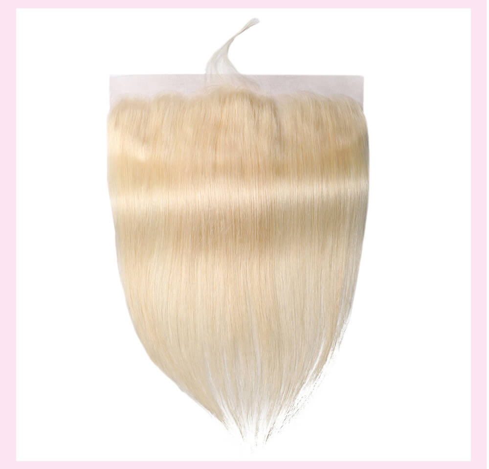UNice Hair 613 Blonde Hair Straight Hair 13*4 Lace Frontal Closure With Baby Hair