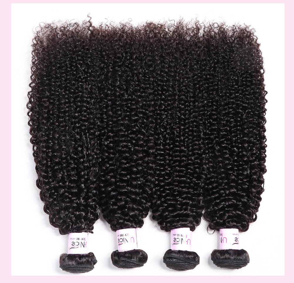 UNice Hair Icenu Series 4 Bundles Kinky Curly Unprocessed Virgin Hair