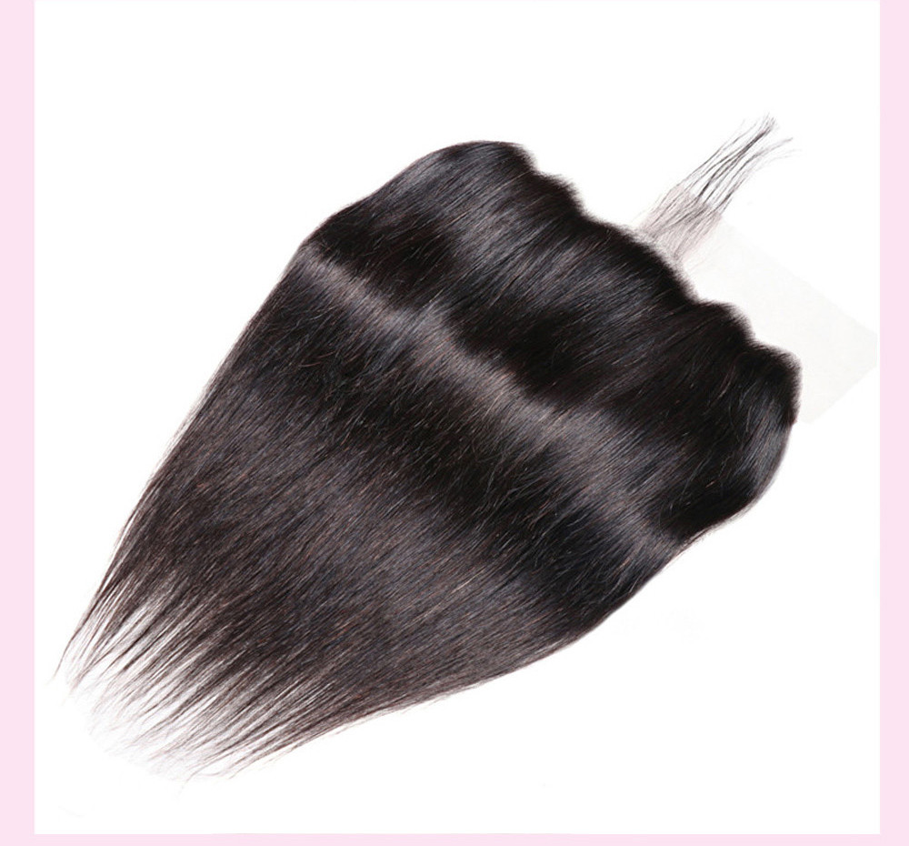 Straight Human Hair With Lace Frontal Closure