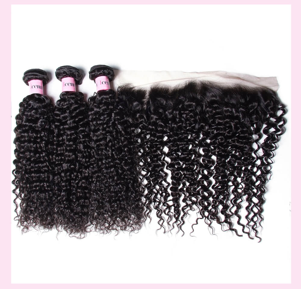 Curly Hair With Frontal Hair Lace Closure
