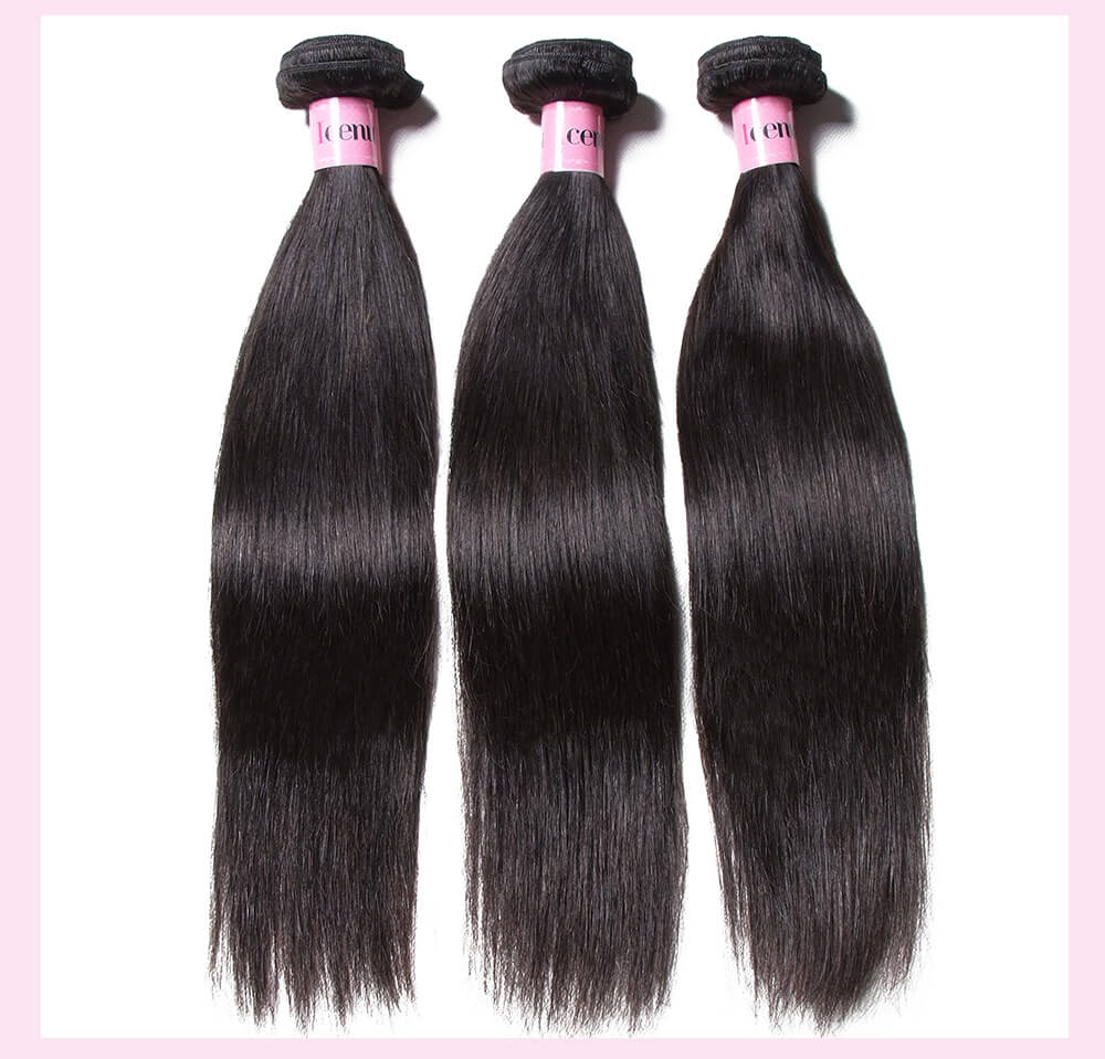 Peruvian Straight Hair Weft With Closure