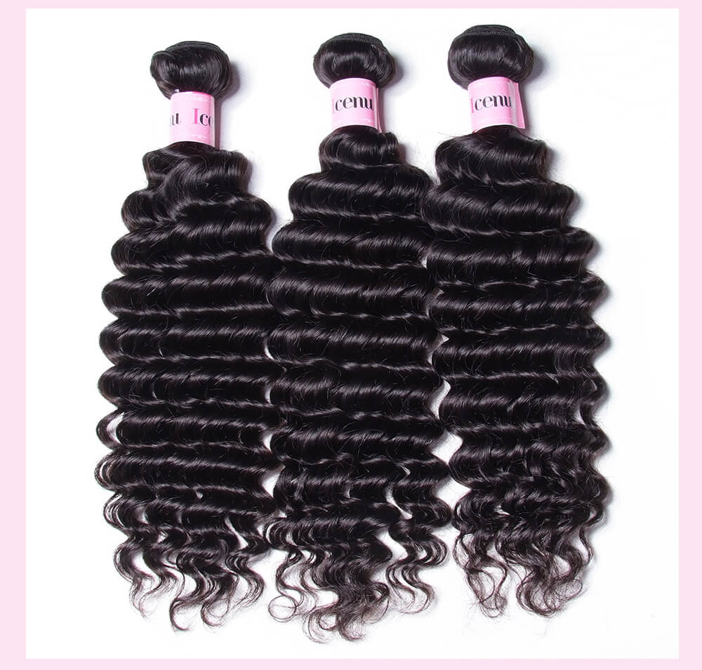 Deep Wave Hair With Lace Closure