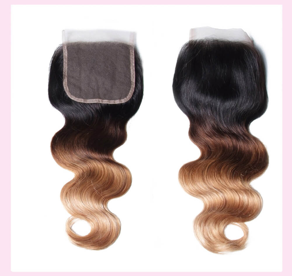 Ombre Body Wave Virgin Hair With Closure