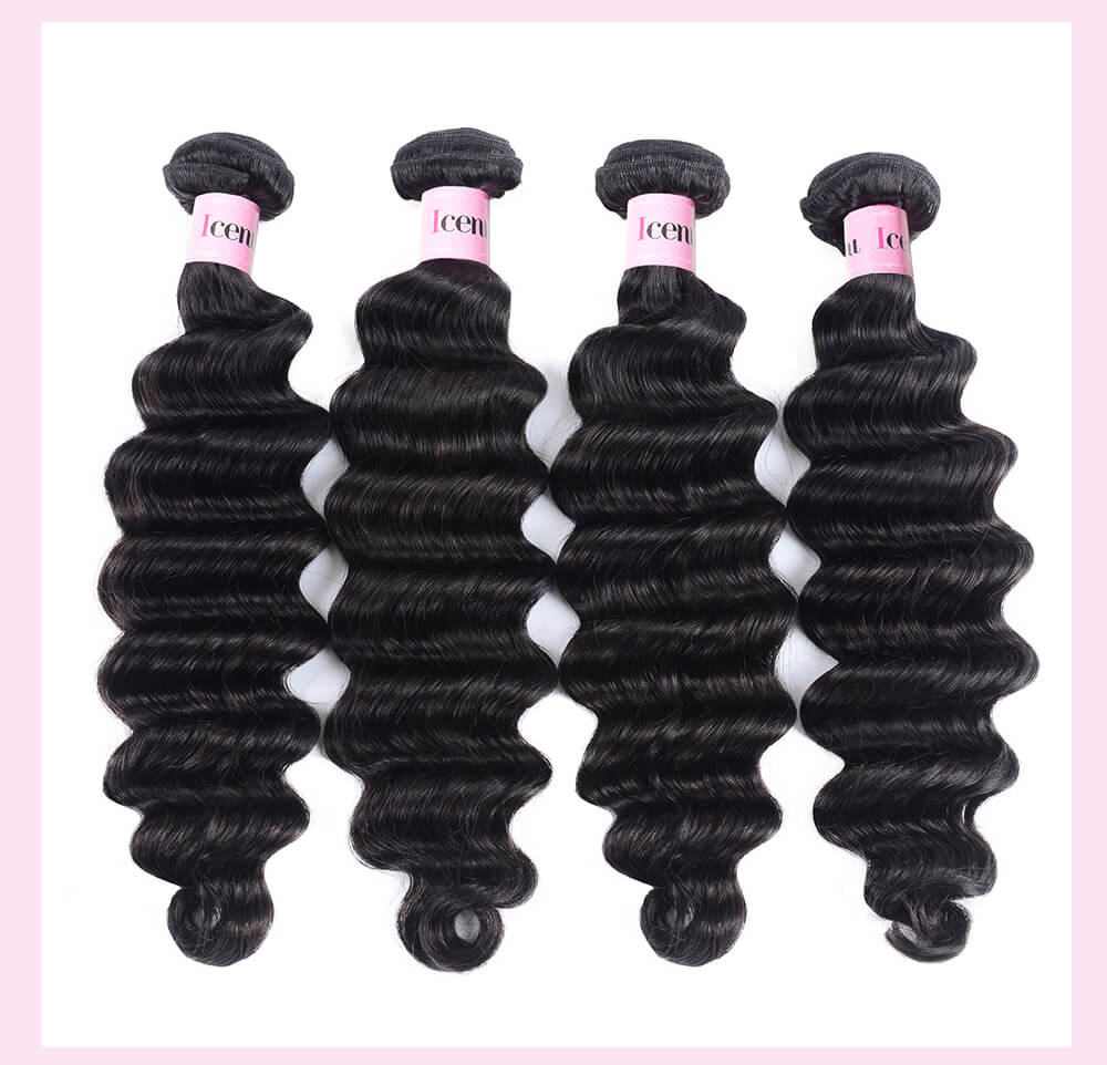 4pcs Loose Deep Wave Virgin Human Hair Weft