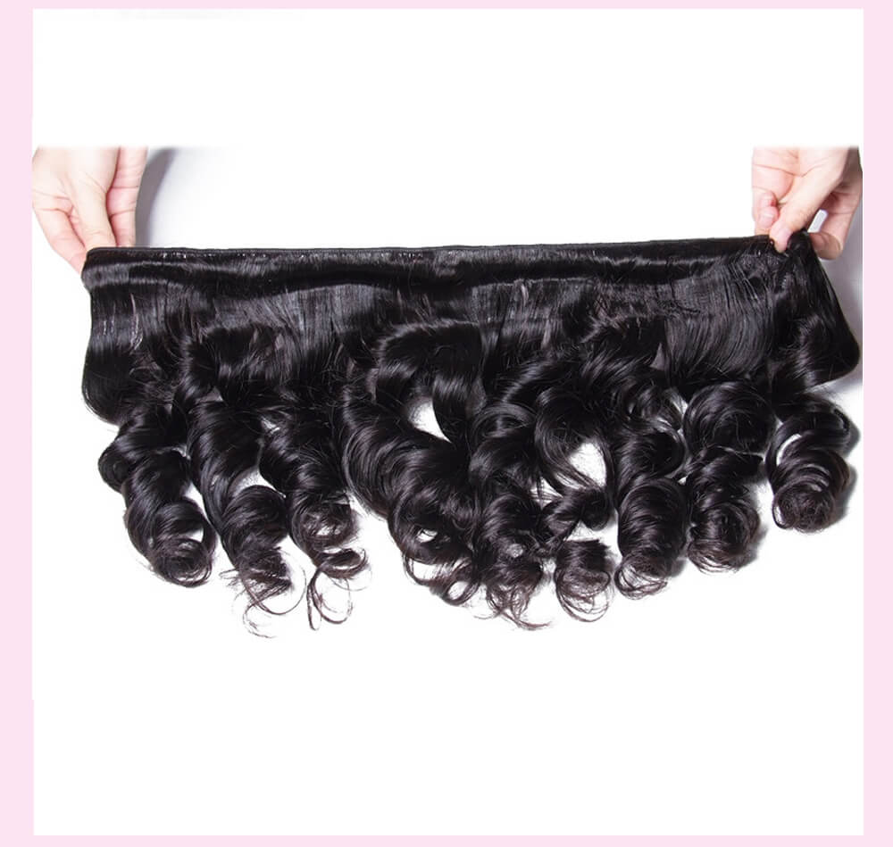 UNice Hair Icenu Series Loose Wave Hair Bundles With Free Part Closure