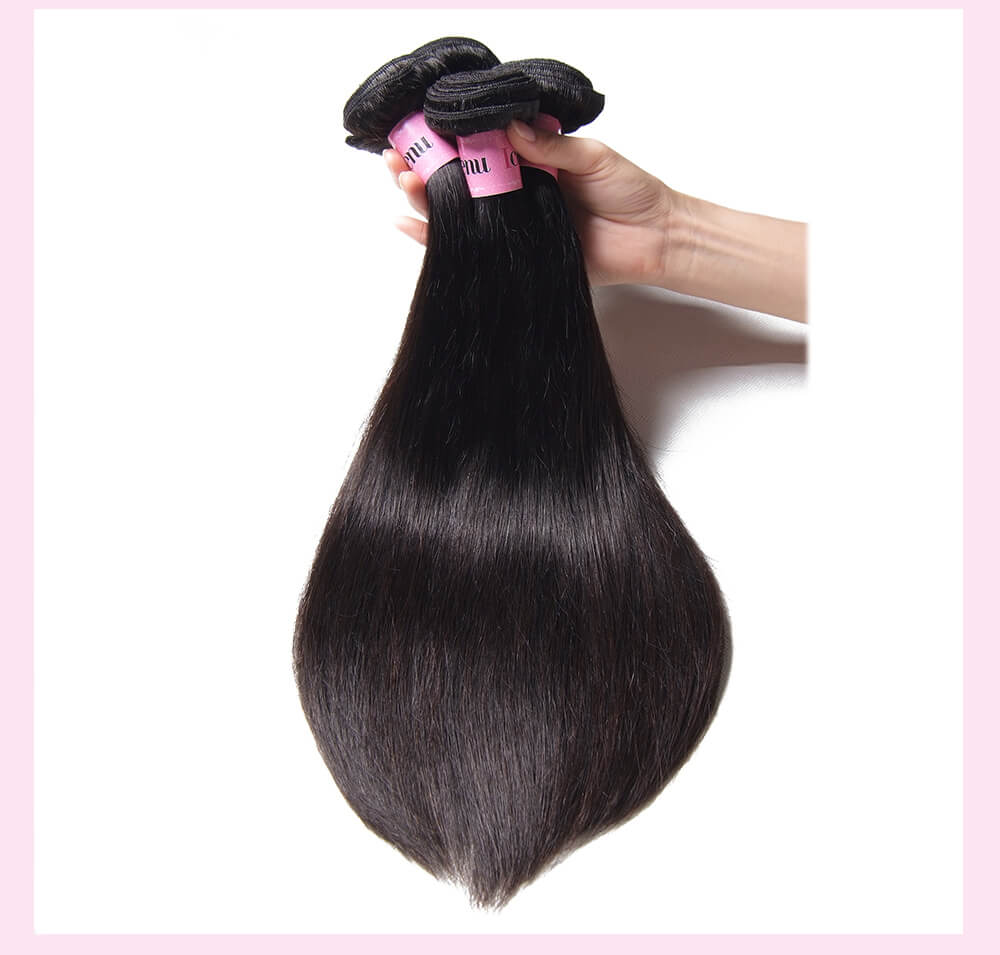 Indian Straight Human Hair Weaves