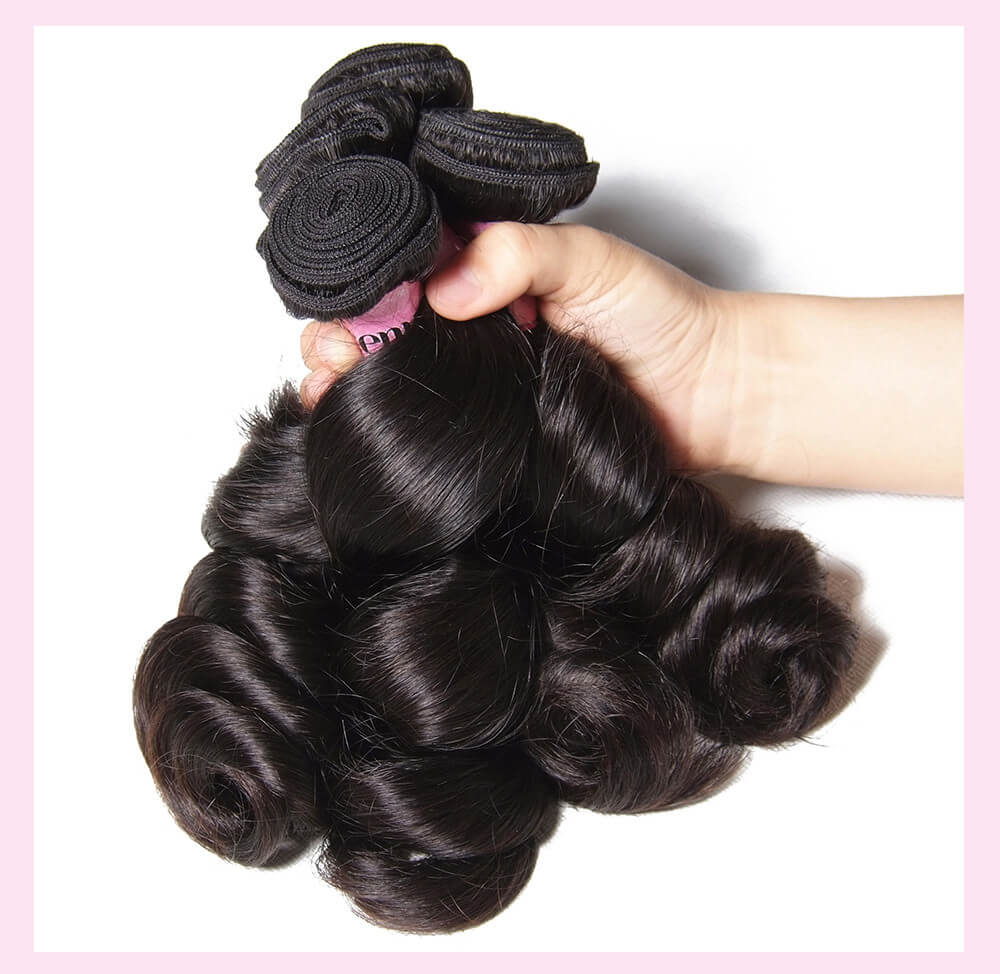 Malaysian Loose Wave Human Virgin Hair 3 Bundles