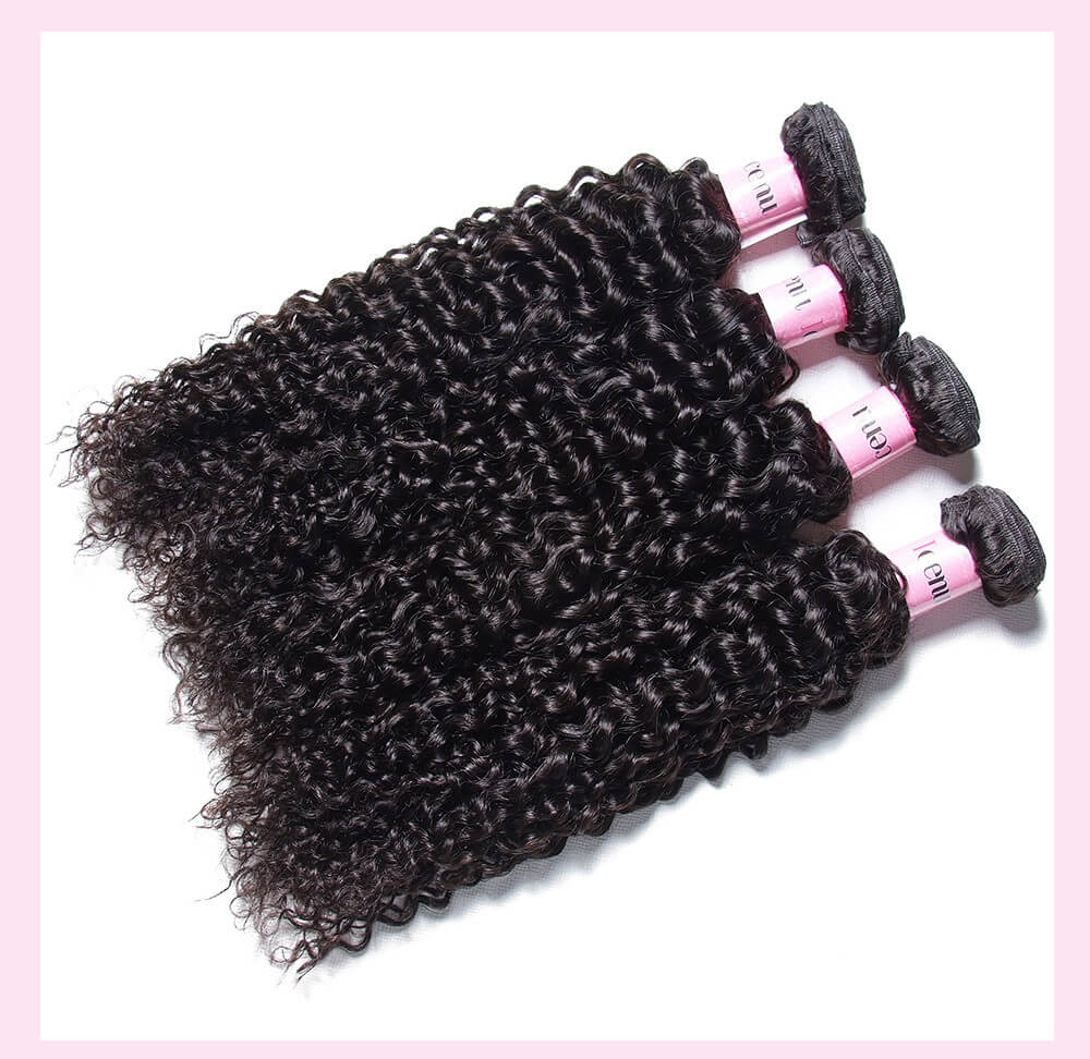 Peruvian Jerry Curly Virgin Hair Weaves