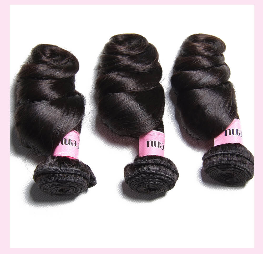 Indian Loose Wave Human Hair Extensions