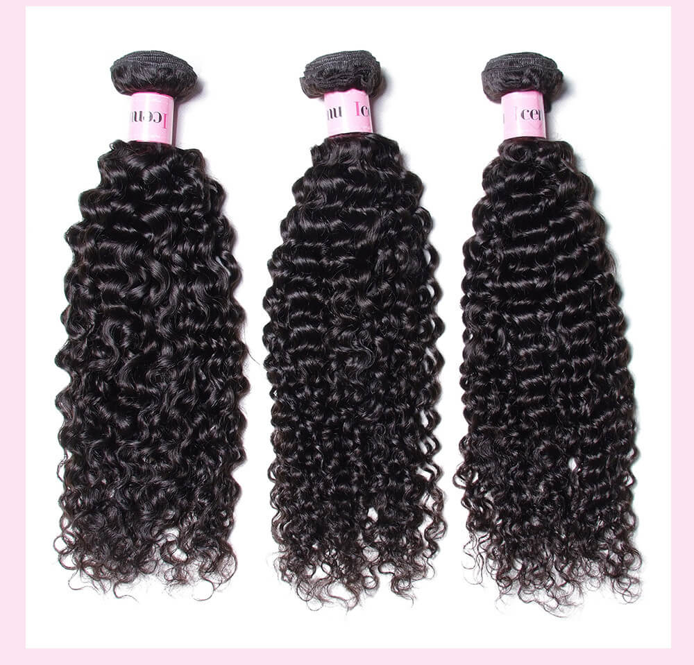 Indian Jerry Curly Human Hair Extensions