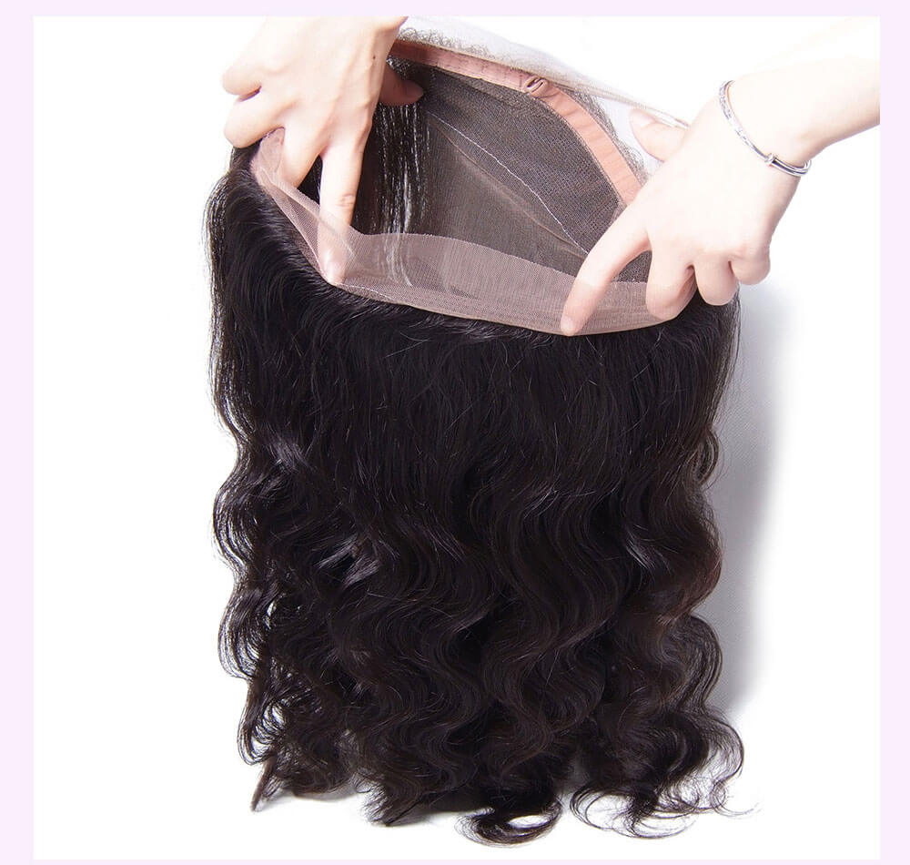 Unice kysiss body wave 4 bundles hair with  360 frontal