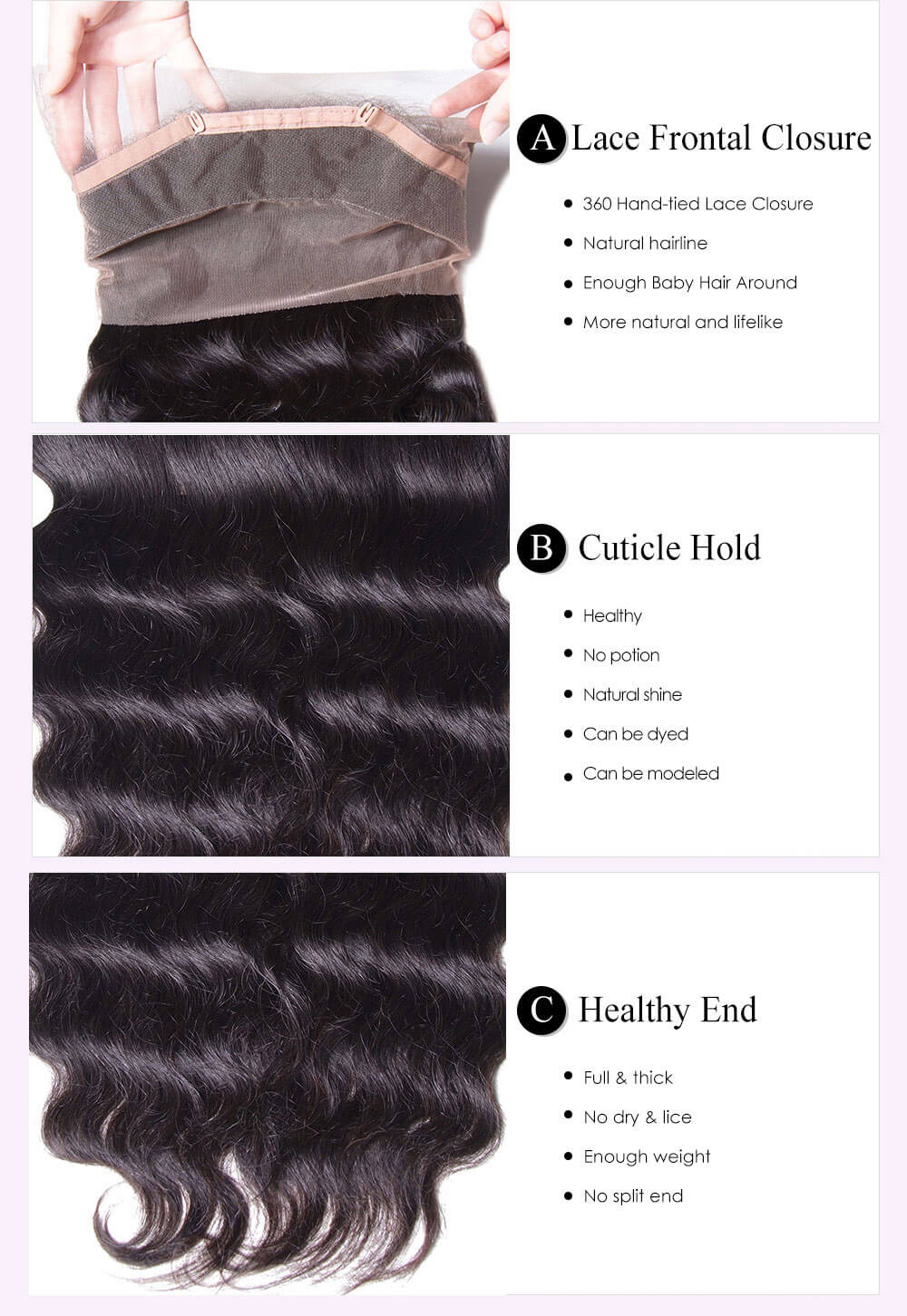 Unice kysiss body wave 3 bundles hair with  360 frontal