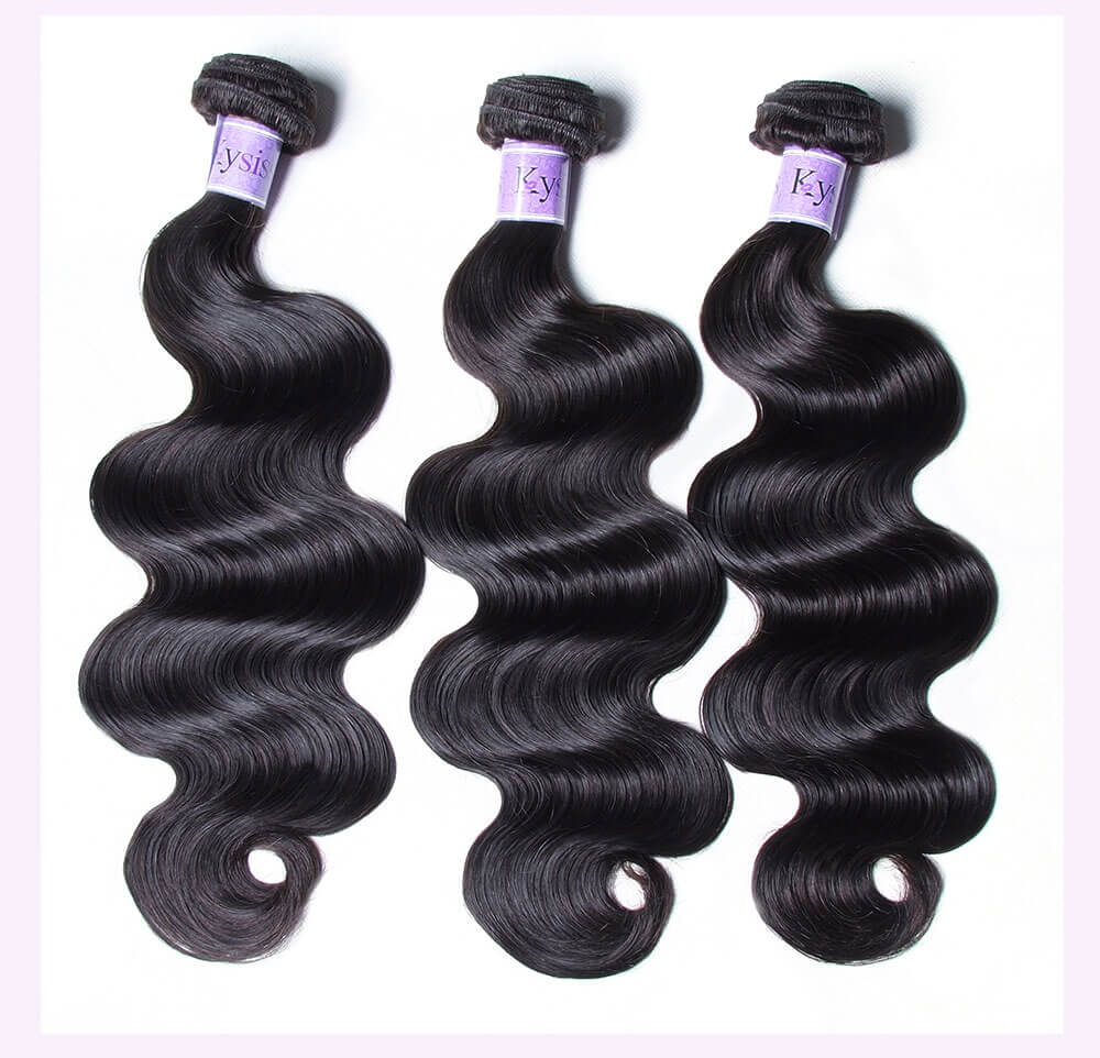 Unice kysiss Brazilian body wave 3 bundles hair with lace closure