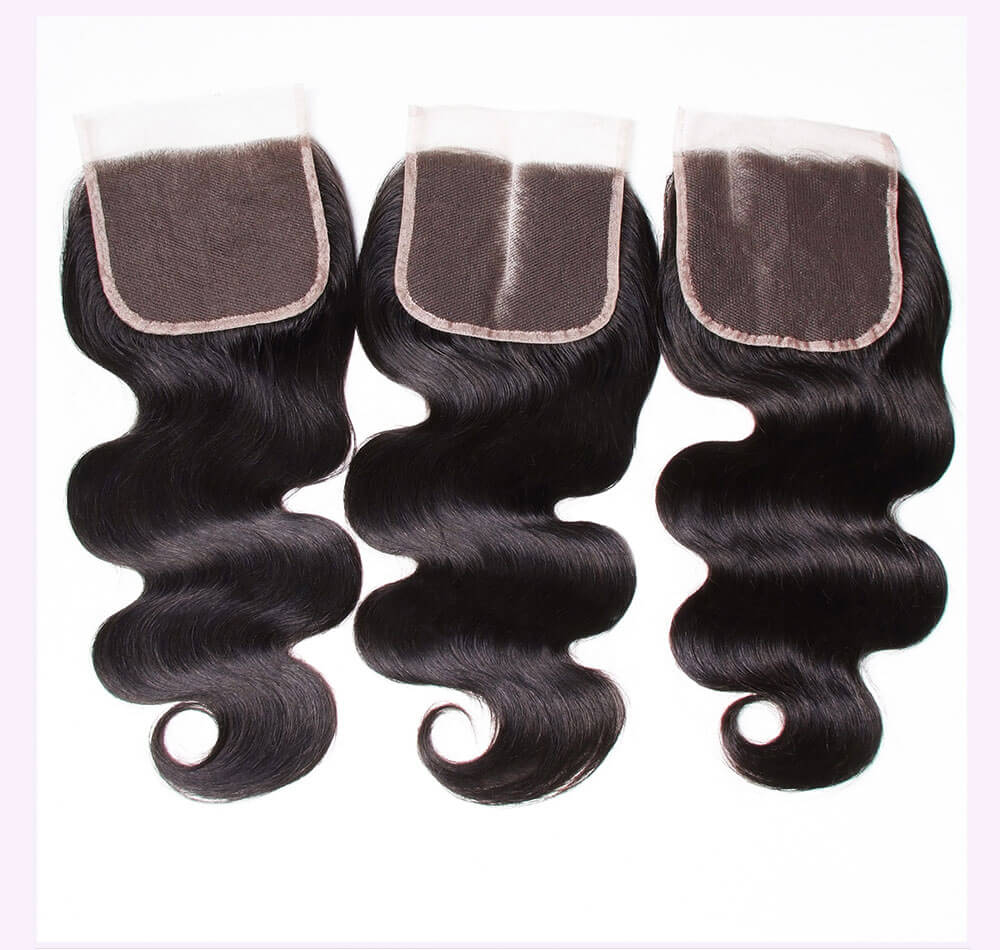 Unice kysiss Malaysian body wave 4 bundles hair with lace closure