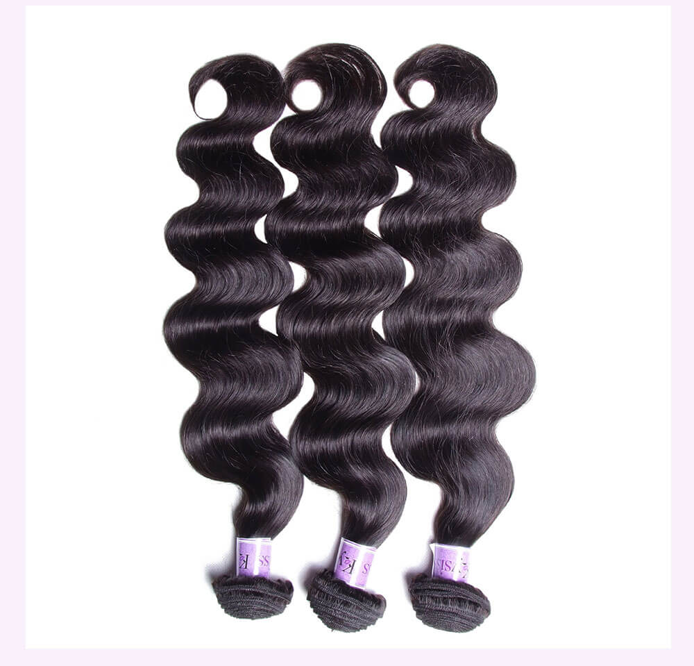 Unice kysiss body wave 4 bundles with frontal closure