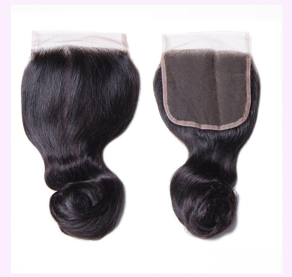 Unice kysiss Peruvian loose wave 3 bundles hair with closure